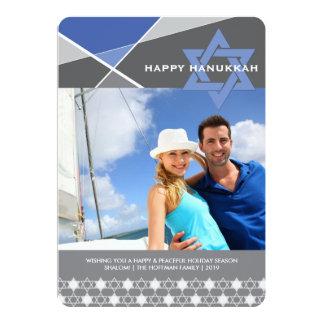 Hanukkah Criss Cross Star of David Photo Holiday Card