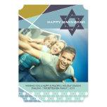 Hanukkah Criss Cross Star of David Photo Holiday Invitations