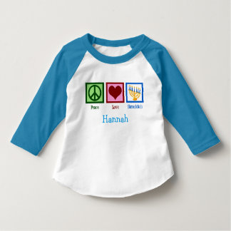 Hanukkah Cute Custom Blue T-Shirt