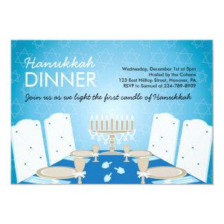 Hanukkah Dinner Party Invitations at Zazzle