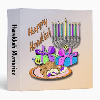 "Hanukkah - Donuts, Menorah, Dreidel  1.5"" Binder"