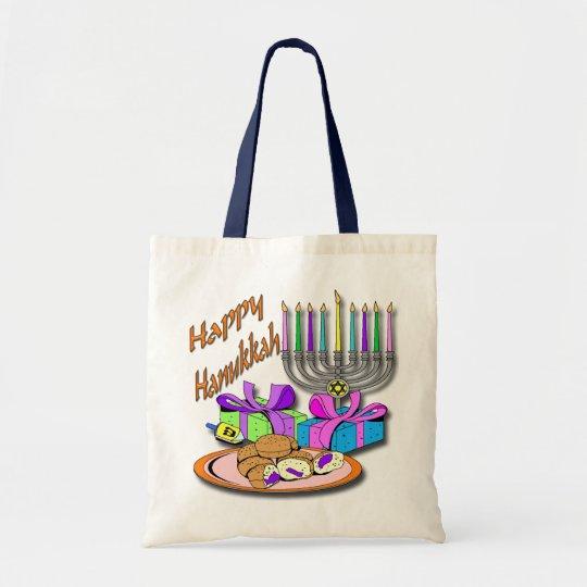 Hanukkah - Donuts, Menorah, Dreidel Bag
