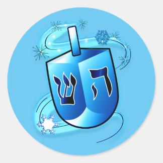 Hanukkah Dreidel Classic Round Sticker