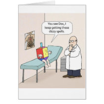 Hanukkah Dreidel Doctor Funny Greeting Card
