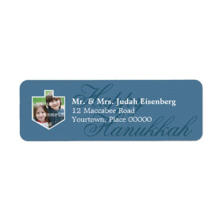 Hanukkah Dreidel Frame Return Address Label