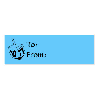 Hanukkah Dreidel Gift Tags Business Cards