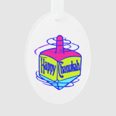 Hanukkah Dreidel Ornament at Zazzle