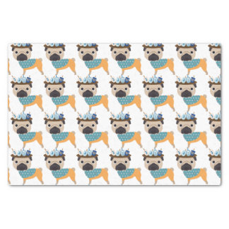 Hanukkah Dreidel Pug (customizable) Tissue Paper