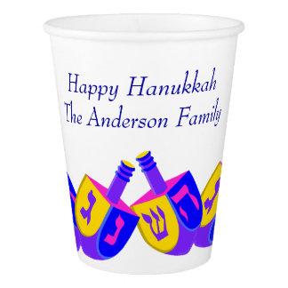 Hanukkah Dreidels Colorful Adults Or Kids Party Paper Cup