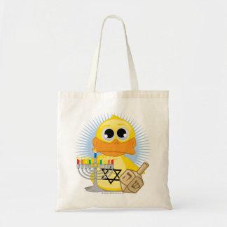 Hanukkah Duck Budget Tote Bag