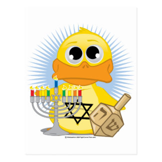 Hanukkah Duck Postcards