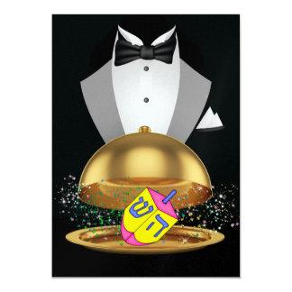 Hanukkah Elegant Invitation - SRF