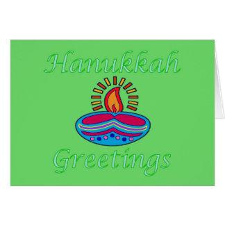 Hanukkah Festival of Light candles tealight Jewish Greeting Card