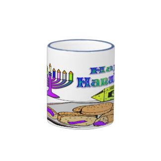 Hanukkah - Food, Dreidel, Menorah Mug