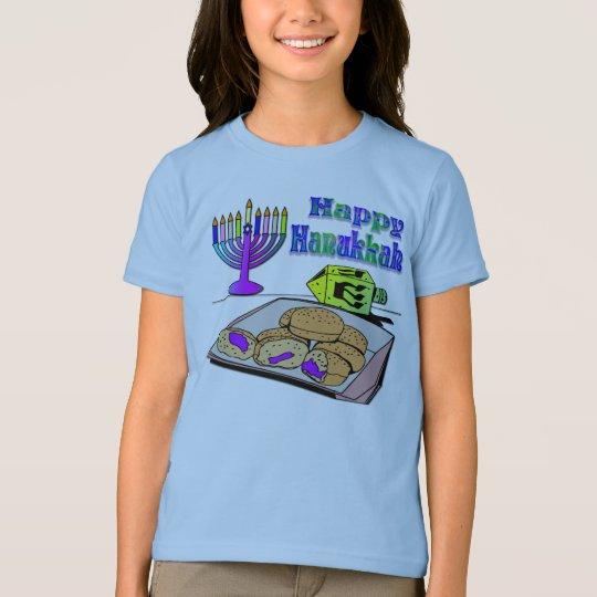 Hanukkah - Food, Dreidel, Menorah Shirt