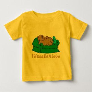 HANUKKAH FUNNY GIFTS 'I WANT TO BE A LATKE' BABY T-Shirt