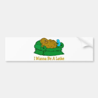 HANUKKAH FUNNY GIFTS 'I WANT TO BE A LATKE' BUMPER STICKER