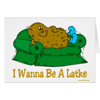 HANUKKAH FUNNY GIFTS 'I WANT TO BE A LATKE' CARD