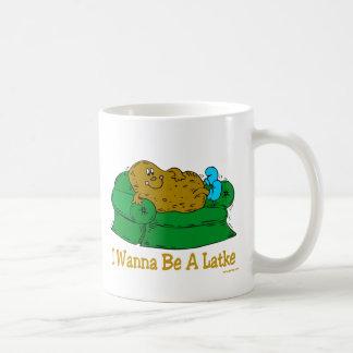 HANUKKAH FUNNY GIFTS 'I WANT TO BE A LATKE' COFFEE MUG