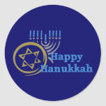 Hanukkah Gelt and Menorah Tees and GIfts Classic Round Sticker