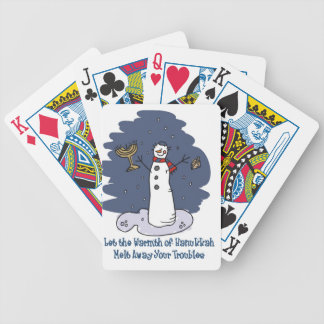 HANUKKAH GIFT DECK OF CARDS SNOWMAN