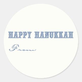 Hanukkah Gift Labels Classic Round Sticker