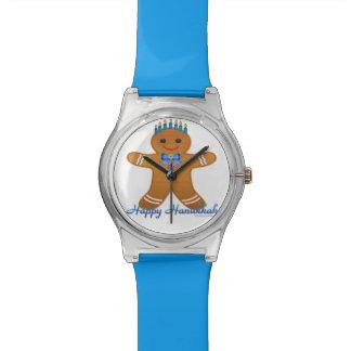 Hanukkah Gingerbread Man Menorah Watch