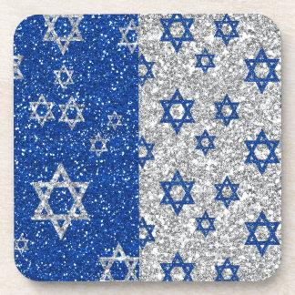 Hanukkah Glitter Stars Coaster