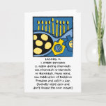 "Hanukkah Greeting Card Personalize Option<br><div class=""desc"">7"" x 5"" Greeting Card for Hanukkah or Chanukah. Humorous card for anyone. Personalization option ready if you are!</div>"