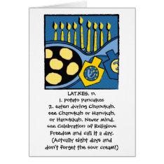 Hanukkah Greeting Card Personalize Option at Zazzle