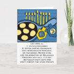 "Hanukkah Greeting Card ""Potato Pancakes""<br><div class=""desc"">Latkes/Potato Pancakes Hanukkah Greeting Card Personalize by deleting text and replacing with your own message. Choose your favorite font size, color, and style. Thanks for stopping and shopping by. Much appreciated. Happy Hanukkah/Chanukah/Hanukah :) Size: Standard (5"" x 7"") Birthdays or holidays, good days or hard days, Zazzle's customized greeting cards...</div>"