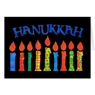 Hanukkah Greeting Card with Candles