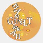 Hanukkah Guelt Classic Round Sticker