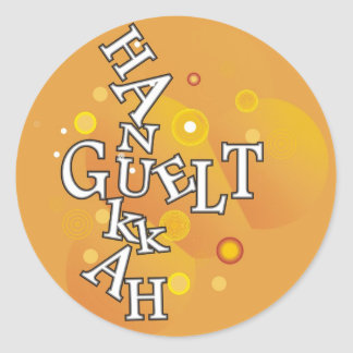 Hanukkah Guelt Round Stickers