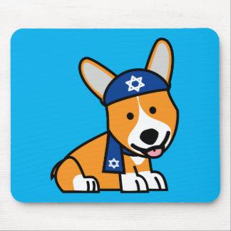 Hanukkah Happy Jewish Corgi Corgis Dog Puppy Mouse Pad