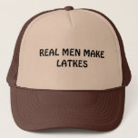 "HANUKKAH HAT REAL MEN MAKE LATKES<br><div class=""desc"">GIVE THIS FUNNY JEWISH HAT AS A HANUKKAH GIFT TO A REAL MAN TO WEAR WITH HIS JEWISH PRIDE.</div>"