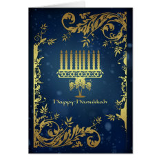 Hanukkah Holiday Card With Menorah at Zazzle