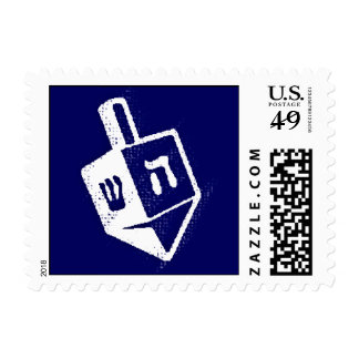Hanukkah Holiday Dreidel Postage Stamp