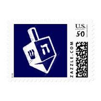 Hanukkah Holiday Dreidel Postage Stamp