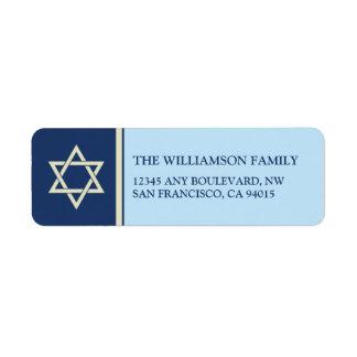 Hanukkah Holiday Return Address Labels (blue)