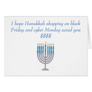 Hanukkah humor greeting card
