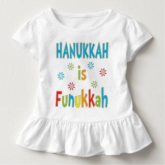 """""""Hanukkah Is Funukkah"""" GIRLS Ruffle T-Shirt"""