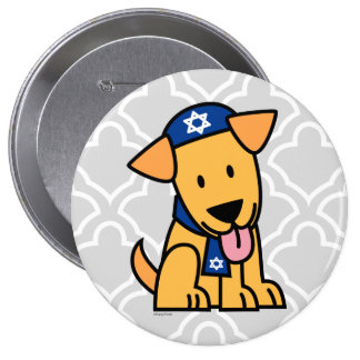 Hanukkah Jewish Labrador Retriever Puppy Dog Button