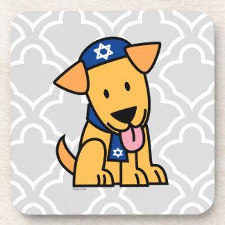 Hanukkah Jewish Labrador Retriever Puppy Dog Drink Coaster