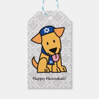 Hanukkah Jewish Labrador Retriever Puppy Dog Gift Tags