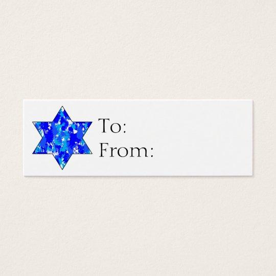Hanukkah Jewish Star Gift Tags