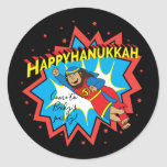"Hanukkah Judah Maccabee Chanukah Round Classic Round Sticker<br><div class=""desc"">""Pink Cat Ballerina, Happy Chanukah"" Stickers Round. Have fun using these stickers as cake toppers, gift tags, envelope seals, favor bag closures, or whatever rocks your festivities! Personalize by deleting text and adding your own words, using your favorite font style, size, and color. Thanks for stopping and shopping by! Your...</div>"