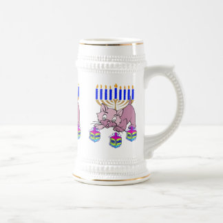 Hanukkah Kitty Beer Stein