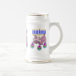 Hanukkah Kitty Beer Stein