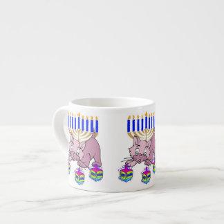 Hanukkah Kitty Espresso Cup
